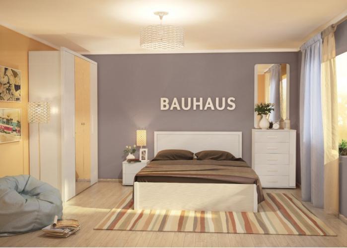 """Кровать """"BAUHAUS"""" бодега светлый 1,2м + основание"""