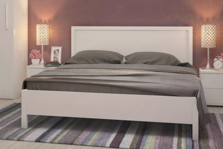 """Кровать """"BAUHAUS"""" с подъёмным механизмом бодега светлый 1,6м"""