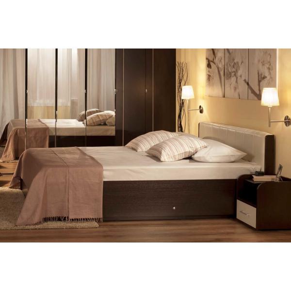 """Кровать """"BERLIN"""" 1,6м венге"""